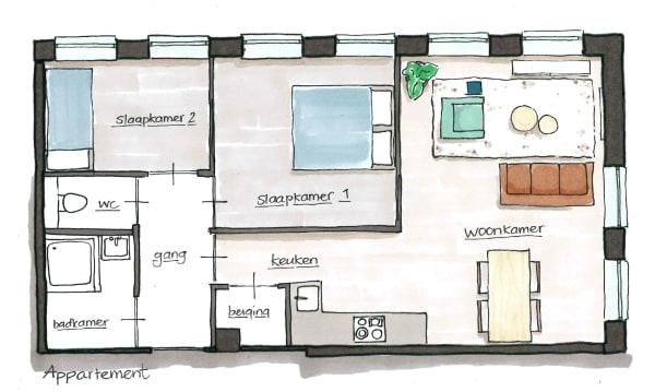 Centerside Apartments plattegrond